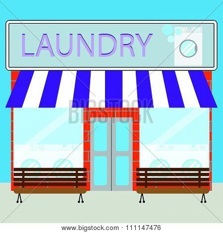Building laundry flat design