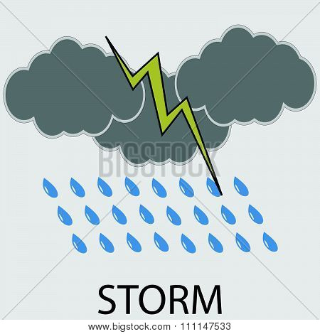 Icon weather storm