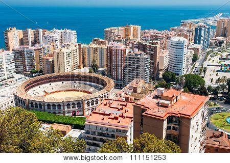 La Malagueta is the bullring Malaga, Spain