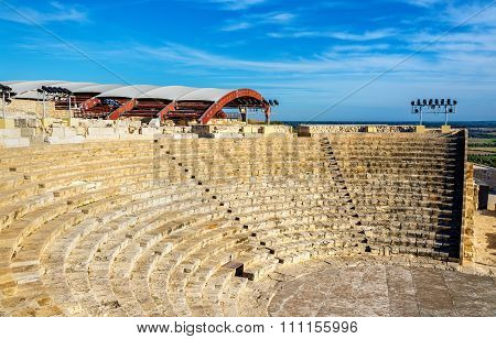 Ancient Amphitheatre In Kourion - Cyprus