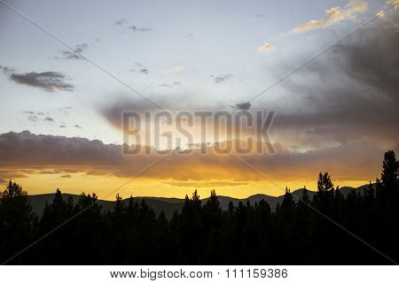 Sunset in the Rocky Mountains