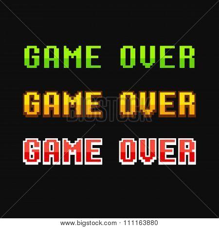 Game Over 8 Bit Set