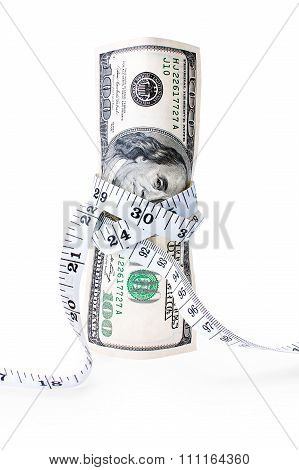 Money Tied With Measuring Tape
