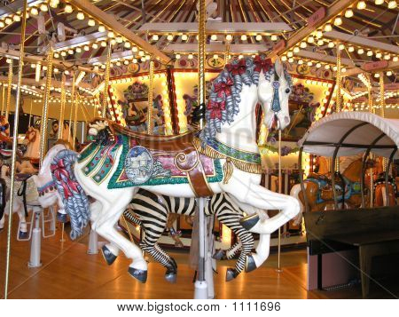 Fancy White Carousel Horse