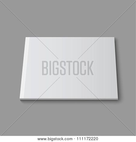 Blank empty magazine or book or booklet, brochure, catalog template  on a gray background. vector poster