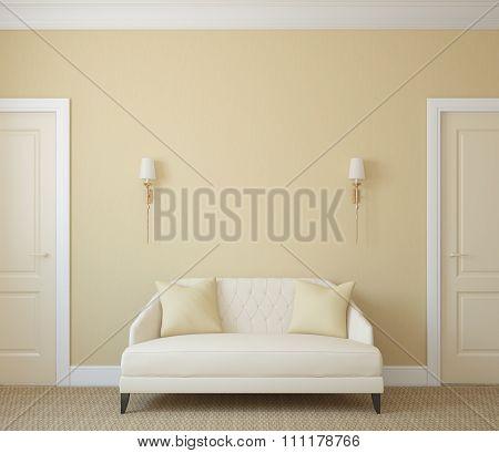 Hallway. 3d rendering