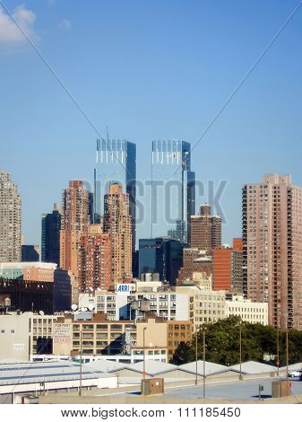 Residential Buildings And Time Warner Center