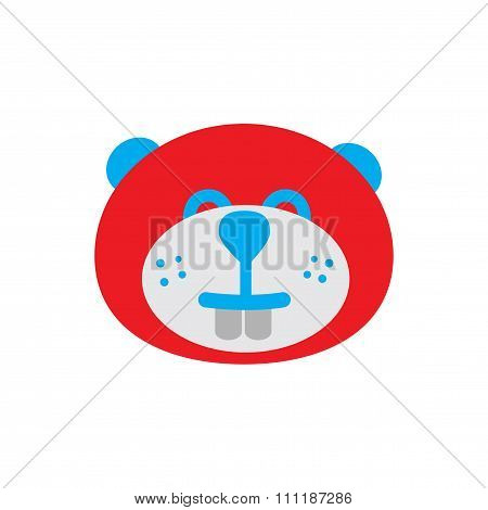 flat icon on white background  Canadian beaver