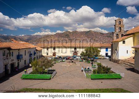 Cityscape Of Cusco, Peru, With Scenic Sky