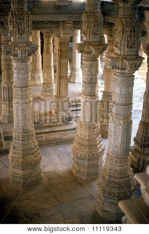 Hall Of Columns Of Jain Temple