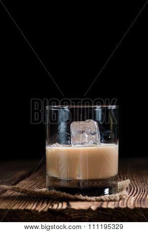 Glass With Cream Liqueur