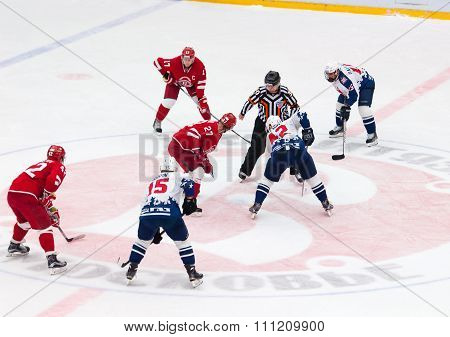 Y. Koksharov (27) And D. Semin (42) On Face-off