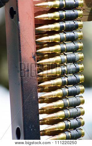 Belt of Machine Gun Bullets