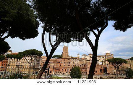 Trajan's Market (mercati Traianei) In Rome, Italy