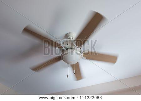Modern Ceiling Electrical Fan In Motion