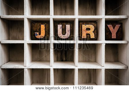 Jury Concept Wooden Letterpress Type In Drawer