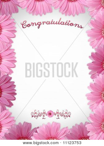 Congratulations - Flower Frame