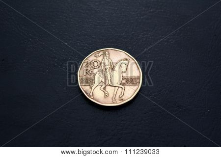 Czech money -  20 kronas (2000 year)