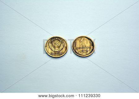 Soviet coins -  1 copeck (1978 year)