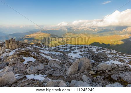 View from the summit of the Sciliar