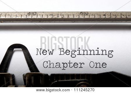 New Beginning, Chapter One