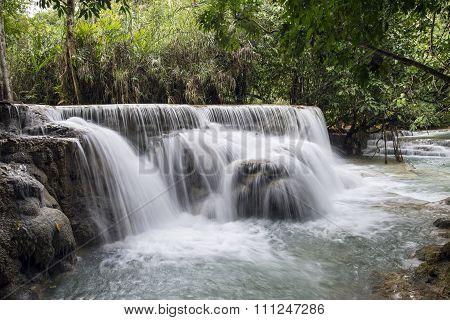 Waterfall Near Luang Prabang