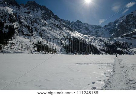 Winter mountain lake 6