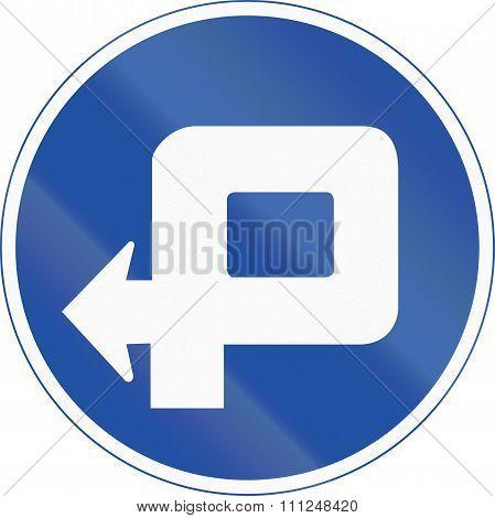Korea Traffic Safety Sign - Mandatory Detour