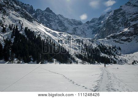 Winter mountain lake 5