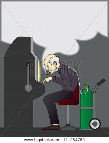 Smoking Gambler