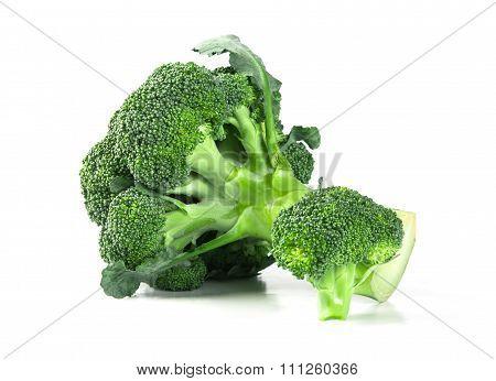 Fresh Broccoli On White Background