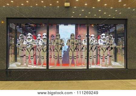Star Wars Storm Troopers In A Showcase. Paris.
