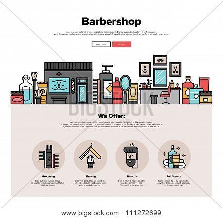 Barbershop Flat Line Web Graphics