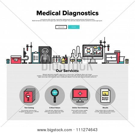 Medical Diagnostics Flat Line Web Graphics