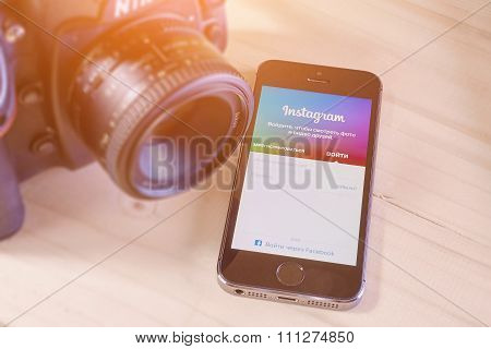 Iphone 5S With Mobile Application For Instagram