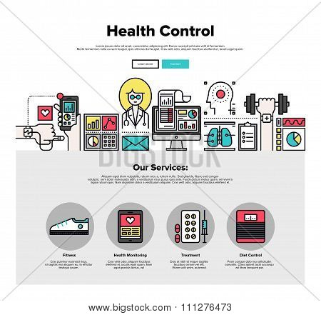 Health Control Flat Line Web Graphics