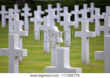 Nettuno - April 06: Tombs, American War Cemetery Of The American Military Cemetery Of Nettuno In Ita