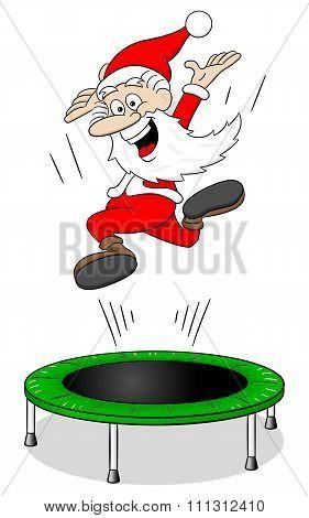 Santa Claus On A Rebounder