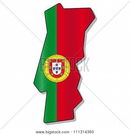 Portugal flag map