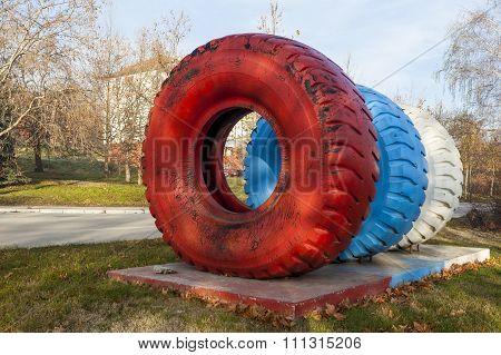 Colorful Dumper Truck Tires 2