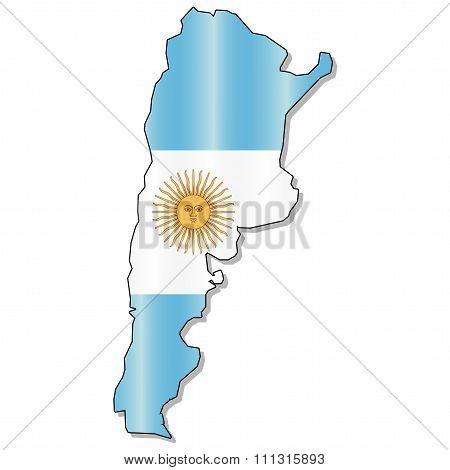 Argentina flag map