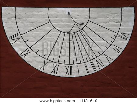 Sun dial at the Novodevichy convent.
