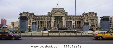 Lima, Peru - December 1, 2015: Palacio De Justicia On 1 December
