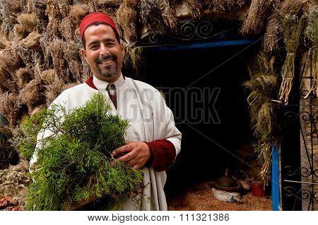 Herb Merchant Essaouria, Morocco.