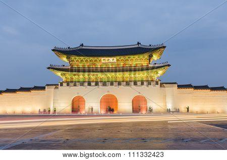 Gyeongbokgung Palace at Nigth in SeoulSouth Korea