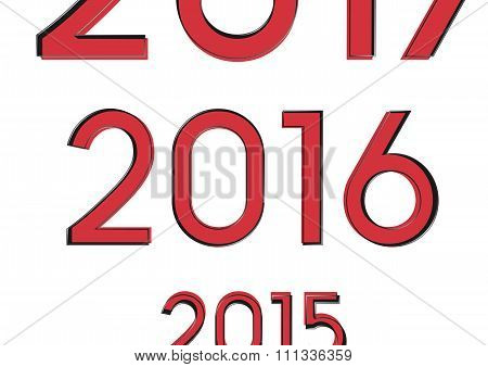 2016 Changes In 2015, 3D On A White Background