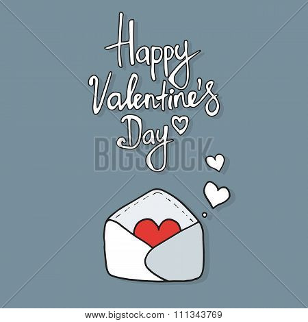 Hearts take off from  inside open envelope