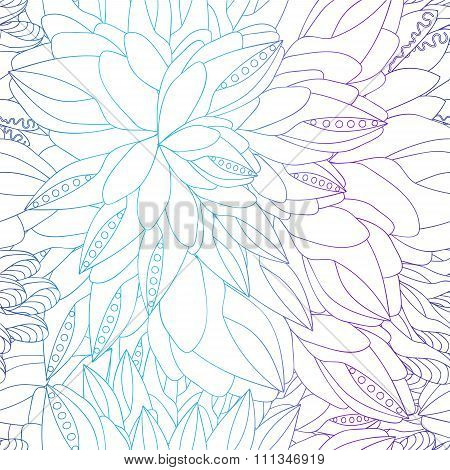 Stock Vector Seamless Doodle Pattern. Color
