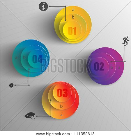 creative design infographic colored layers circles data