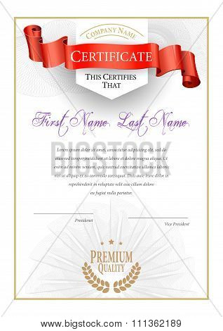 Modern Certificate And Diplomas Template. Vector